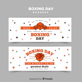 Flache boxen boxing day banner