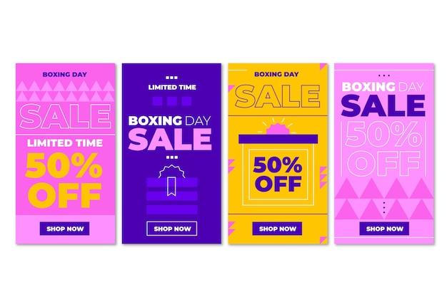 Flache boxing day sale instagram-geschichten-sammlung