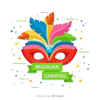 Flache brasilianische karnevalsmaske