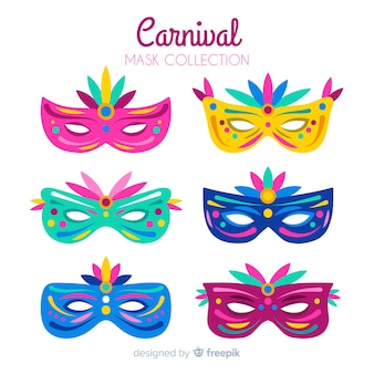 Flache brasilianische karnevalsmaskenpackung