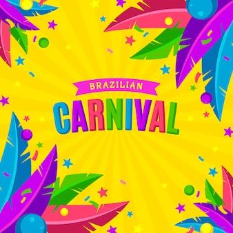 Flache brasilianische karnevalsschablone