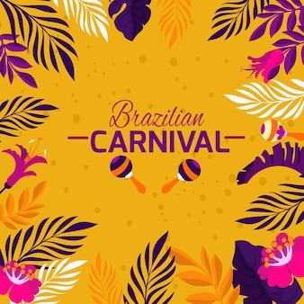 Flache brasilianische karnevalsvegetation