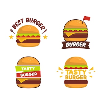 Flache burger-sammlung