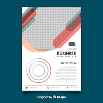 Flache business-flyer-vorlage