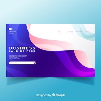 Flache business-landing-page-vorlage