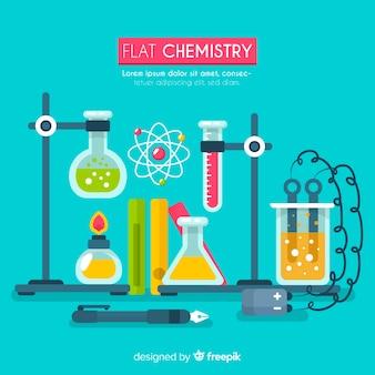 Flache chemie hintergrundvorlage