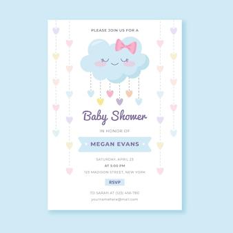 Flache chuva de amor babypartyeinladung
