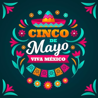 Flache cinco de mayo illustration