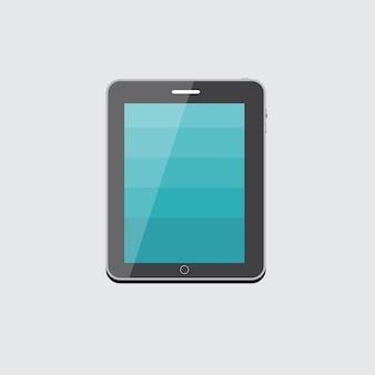 Flache computer-tablet-konzept-vektor-illustration eps10
