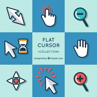 Flache cursor-sammlung