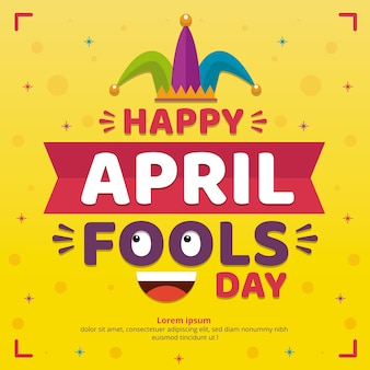 Flache design april narren tag feier