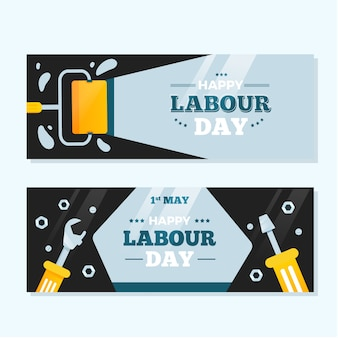 Flache design arbeitstag banner