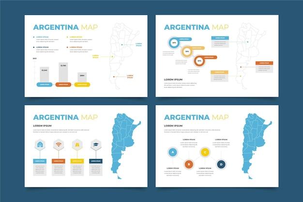 Flache design argentinien karte infografik
