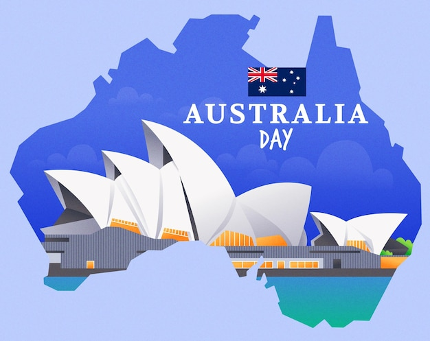 Flache design australien tag illustration