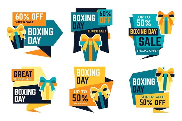 Flache design boxing day sale abzeichen sammlung