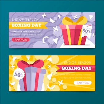 Flache design boxing day sale banner vorlage