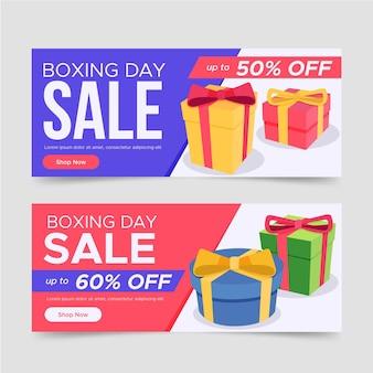 Flache design boxing day sale banner vorlage Kostenlosen Vektoren