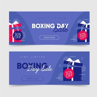 Flache design boxing day sale banner vorlage