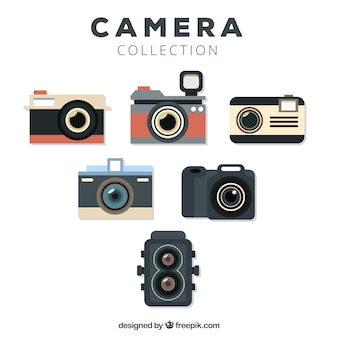 Flache design coole kamera sammlung
