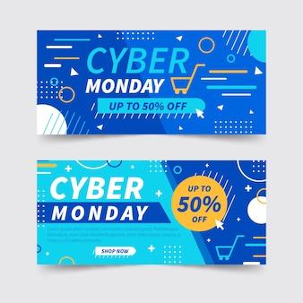 Flache design cyber montag banner vorlage