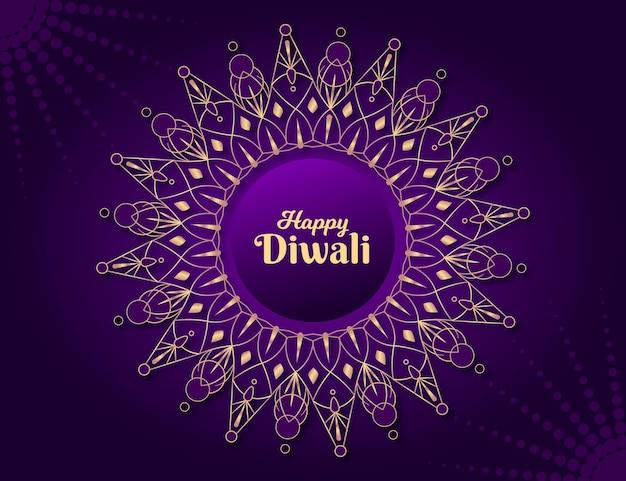 Flache design diwali hindu blume