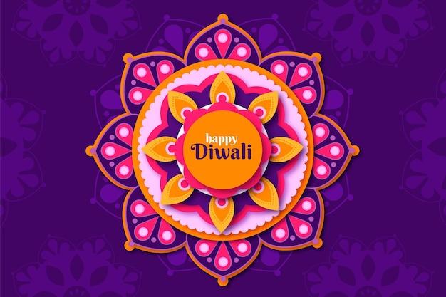 Flache design diwali traditionelle blume
