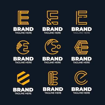 Flache design e logo-schablonensammlung