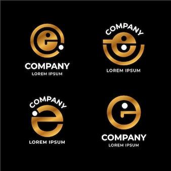 Flache design e logo vorlagen sammlung