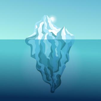Flache design-eisbergillustration