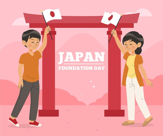 Flache design foundation day illustration