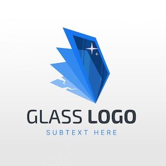 Flache design-glas-logo-vorlage