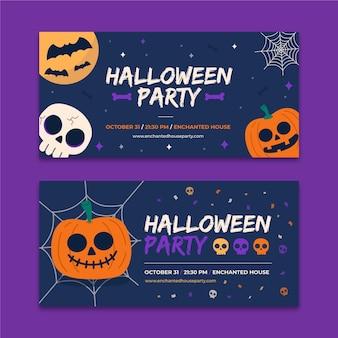 Flache design-halloween-banner