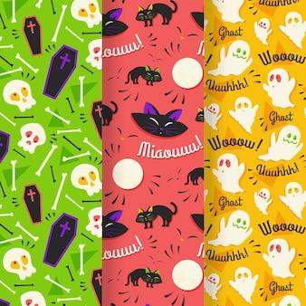 Flache design-halloween-muster
