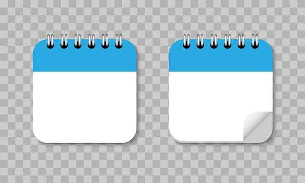 Flache design-ikone der kalendererinnerung Premium Vektoren