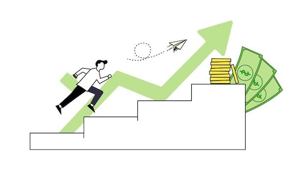 Flache design-leute-symbole für die geschäftsstrategie und die analytik der start-up-projektentwicklung