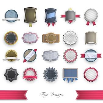 Flache design-logo-kollektion