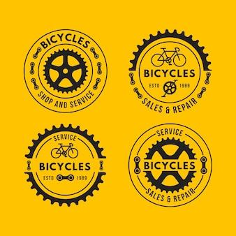Flache design-logo-schablonensammlung