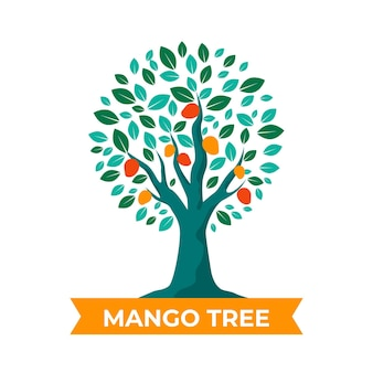 Flache design-mangobaumillustration