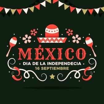 Flache design mexikos unabhängigkeit