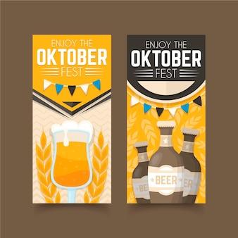 Flache design oktoberfest banner vorlage