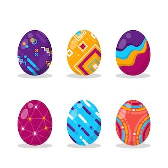 Flache design ostertag eiersammlung