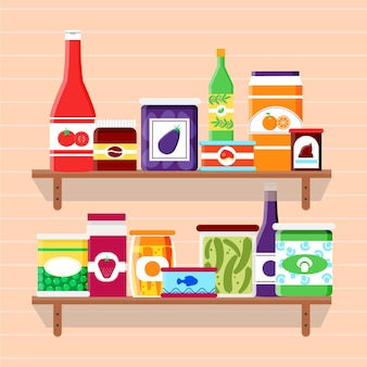 Flache design pantry illustration
