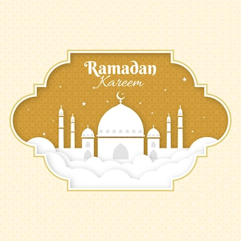 Flache design-ramadan-ereignisillustration