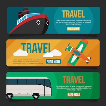 Flache design-reisebanner