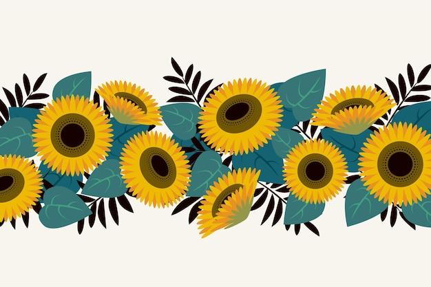 Flache design-sonnenblumengrenze