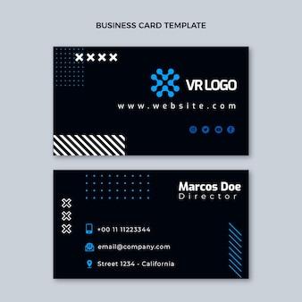 Flache design-technologie horizontale visitenkarte