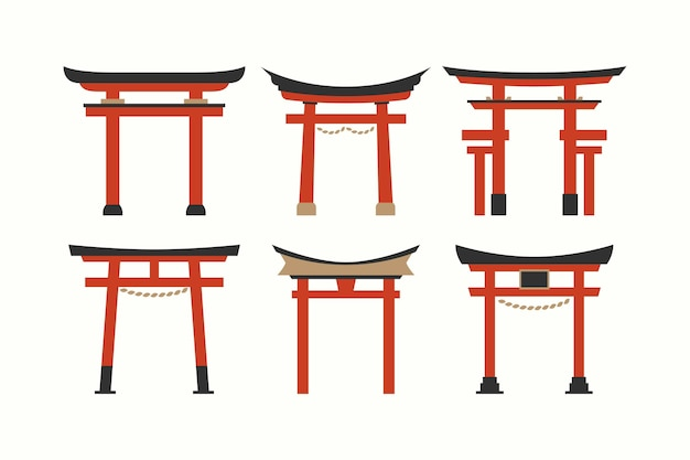 Flache design torii gate kollektion