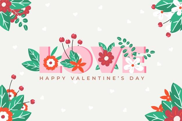 Flache design valentinstag tapete