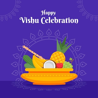 Flache design-vishu-illustration