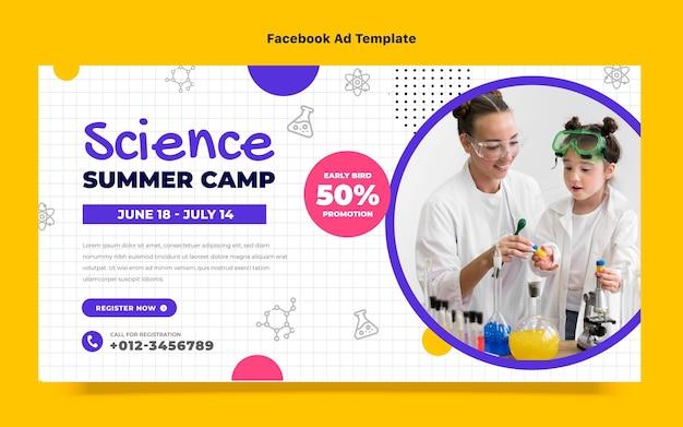 Flache design-wissenschafts-facebook-vorlage